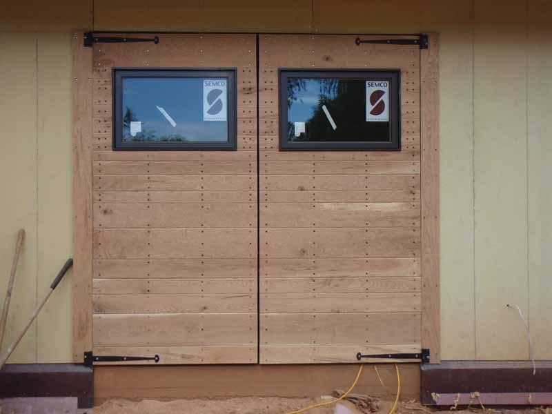 Barn Doors Garage Green Home Wnc Jade Mountain Builders