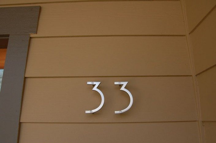 House Numbers Green Home Asheville