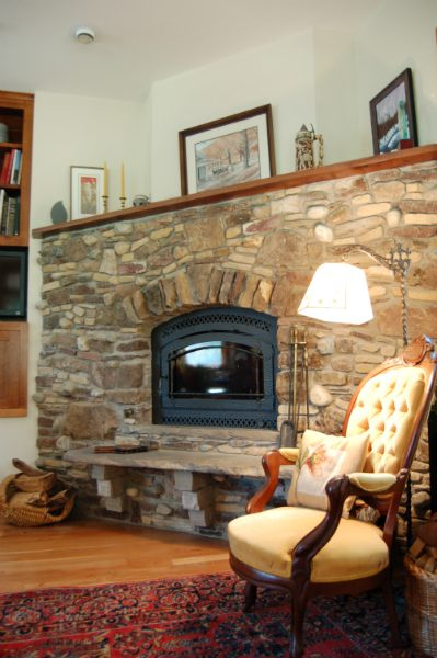 Stone Fireplace | Green Built | WNC