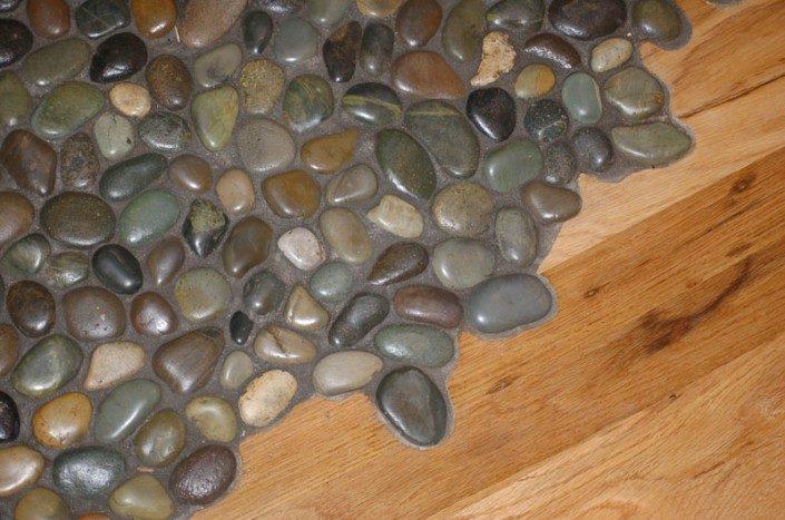 Stone Floor Detail | Green Home | Asheville NC