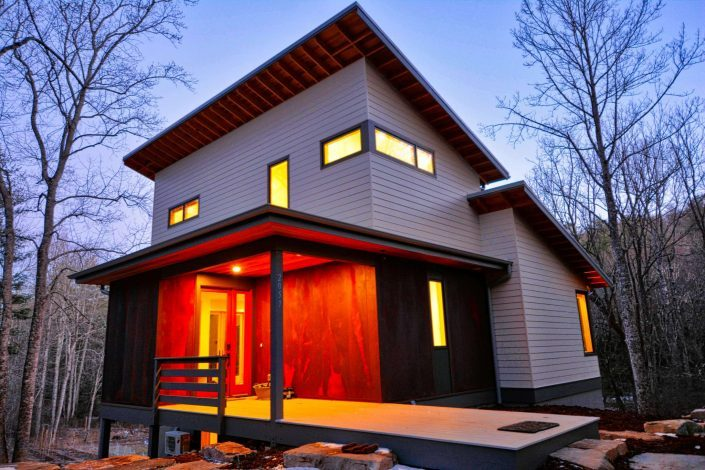 small modern asheville W2 architects Jade Mountain home